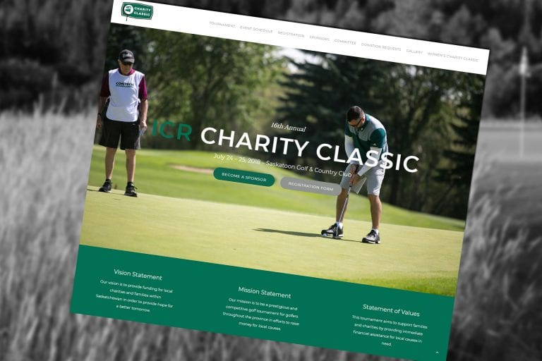 Charity Golf Event Websites